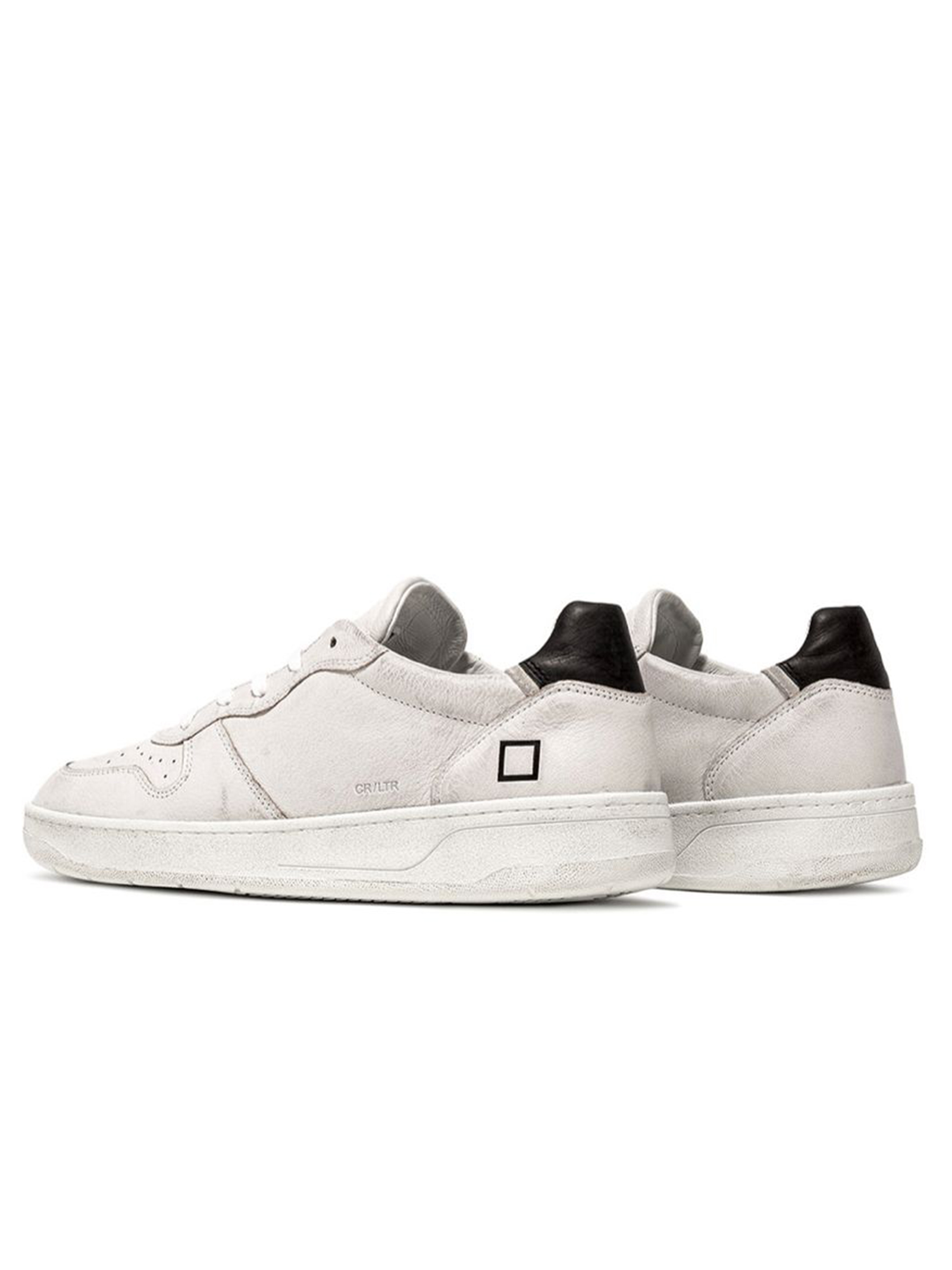 D.A.T.E. |  | COUTR LEATHER WHITE-BLACKWH