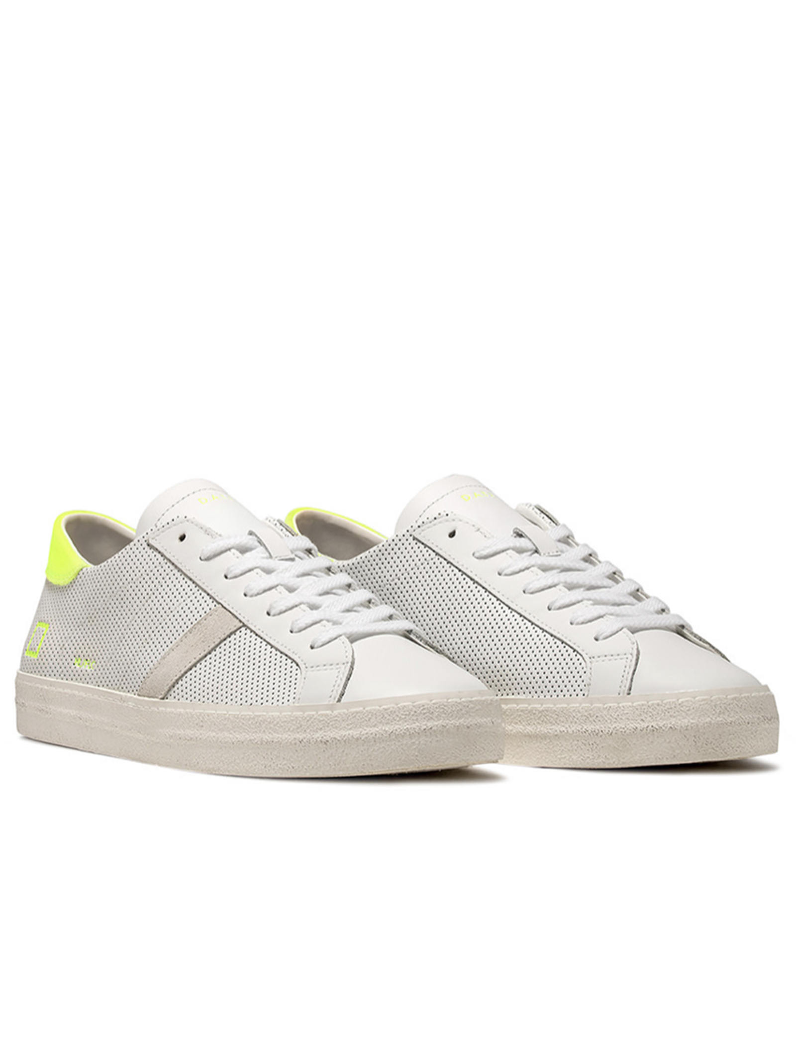 HILL LOW FLUO PERFORATED WHITE-YELLOW D.A.T.E. | Scarpe | HILL LOW FLUO PERF.WHITE YELLOWWY