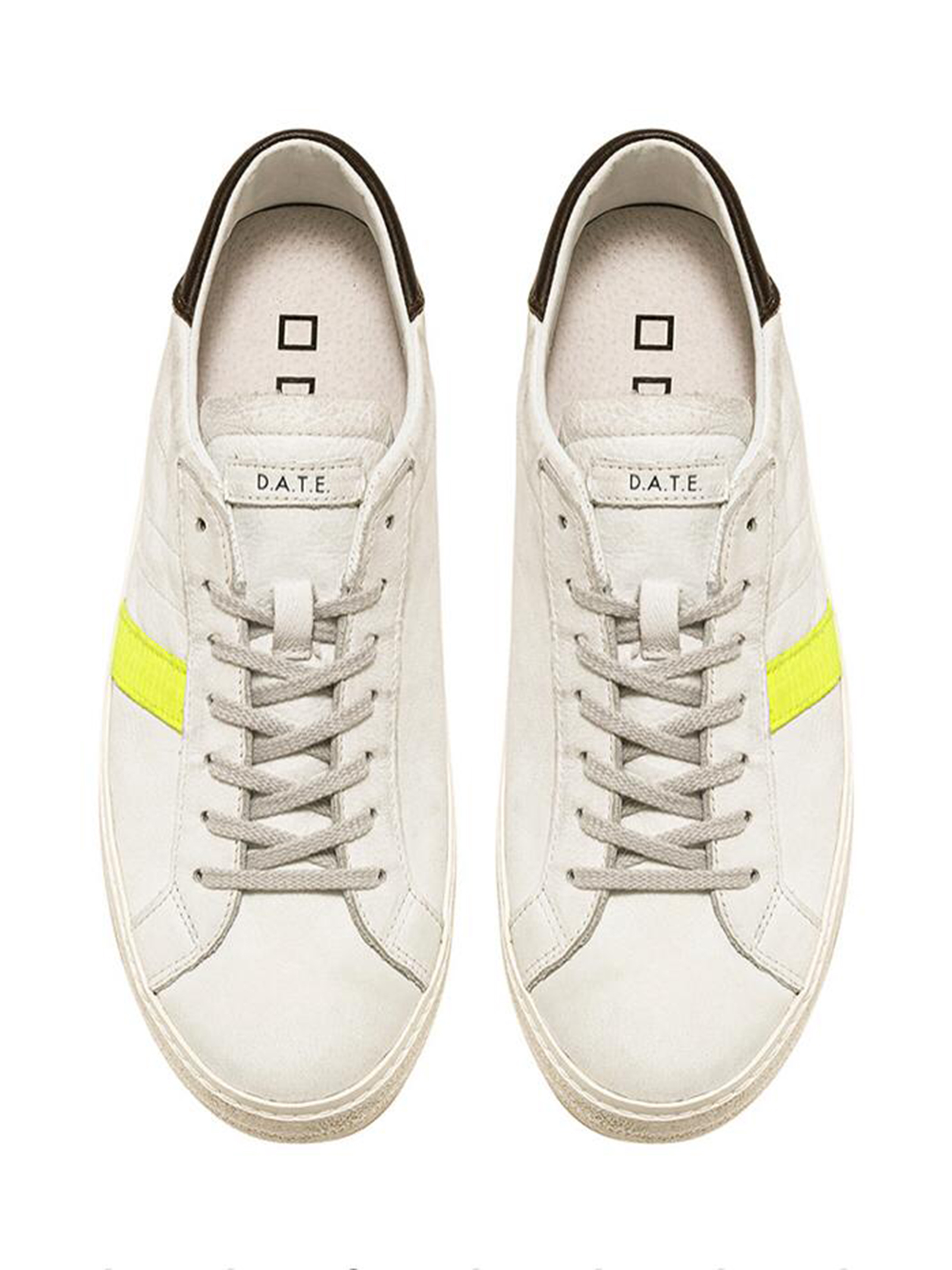 HILL LOW VINTAGE CALF WHITE-YELLOW D.A.T.E. | Scarpe | HILL LOW VINTAGE CALF WHITE-YELLOWWY