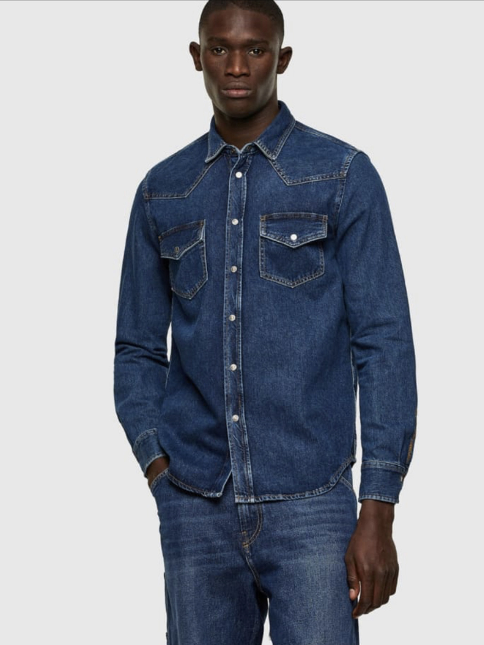 CAMICIA D- EAST Diesel | Camicie jeans | A02160EAST