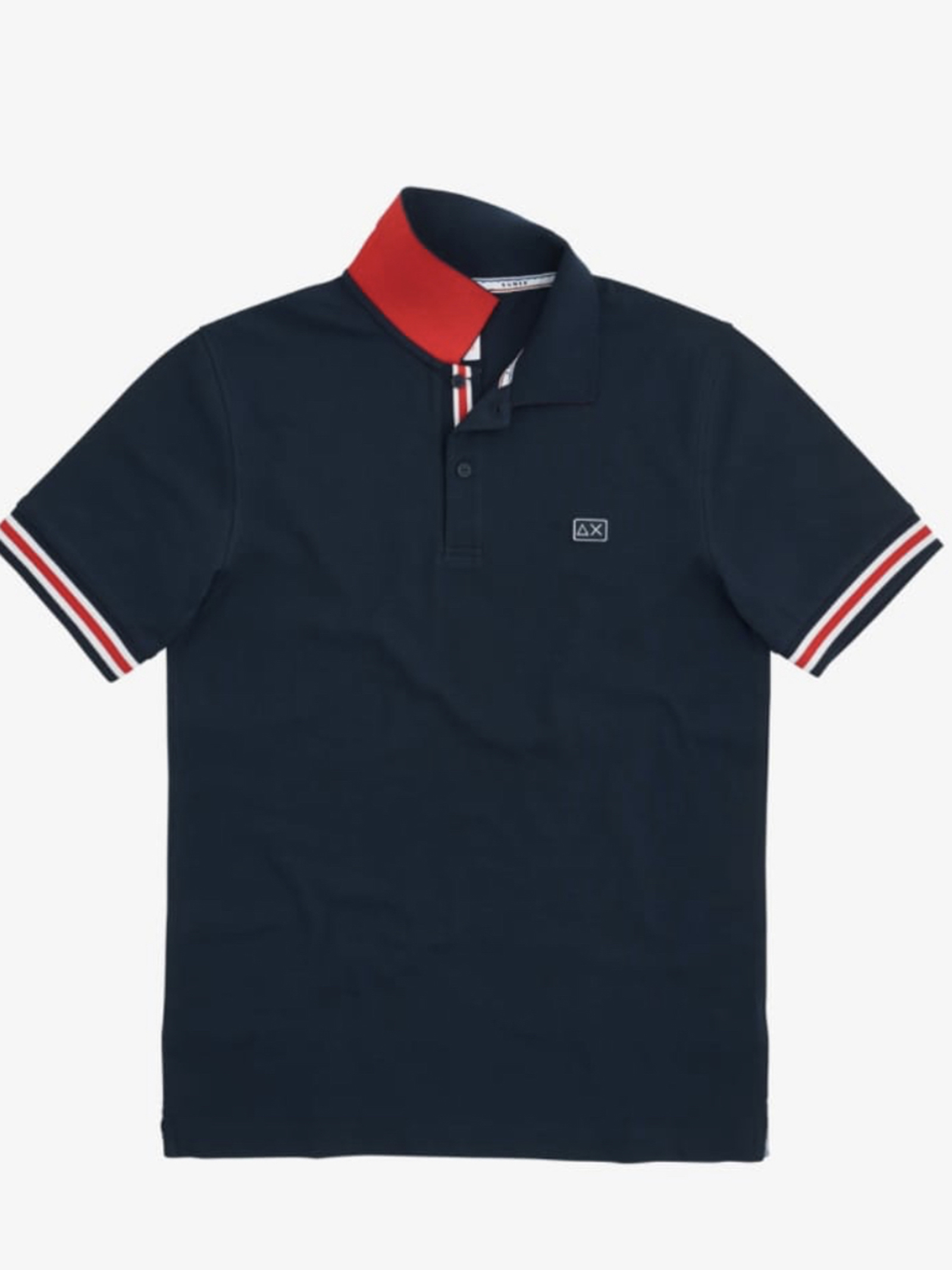 polo stripes on front placket el Navy Blue Sun 68 | Polo | A3111307