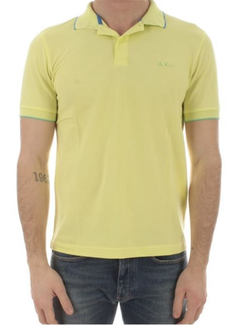 polo small stripes on collar giallo limone Sun 68 | Polo | A3111032