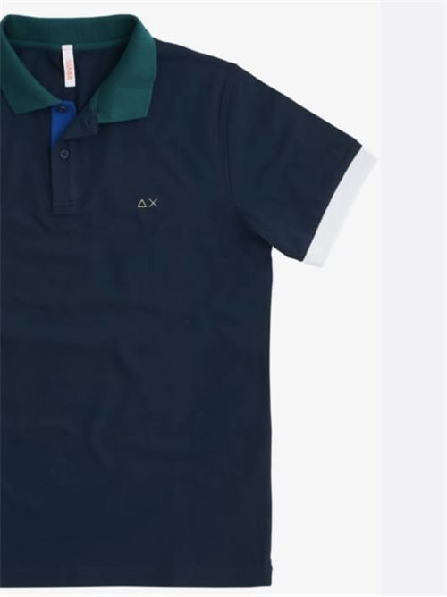 polo 3 color way el Navy Blue Sun 68 | Polo | A3111207