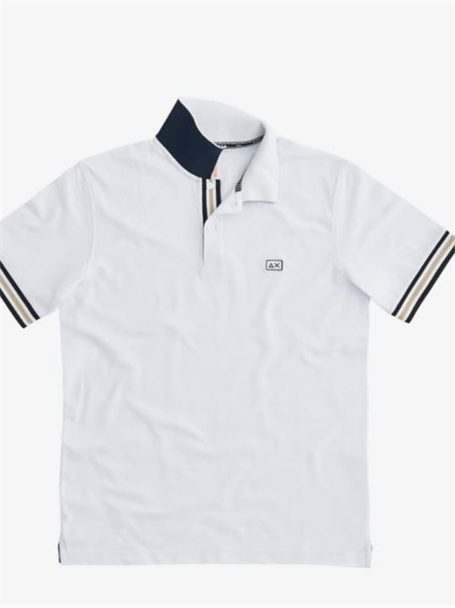 polo stripes on front placket el Bianco Sun 68 | Polo | A3111301