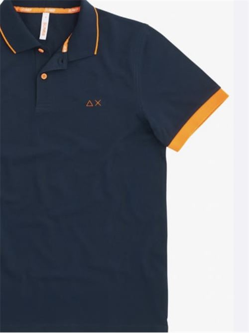 polo small stripes fluo el Navy Blue Sun 68 | Polo | A3111807
