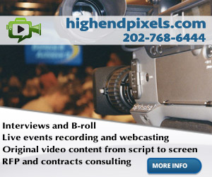 With over twenty years experience the people at highendpixels.com offer broadcast and  corporate video production in the Washington DC area.