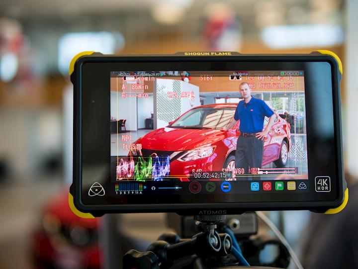 Making a short commercial for Younker Nissan.