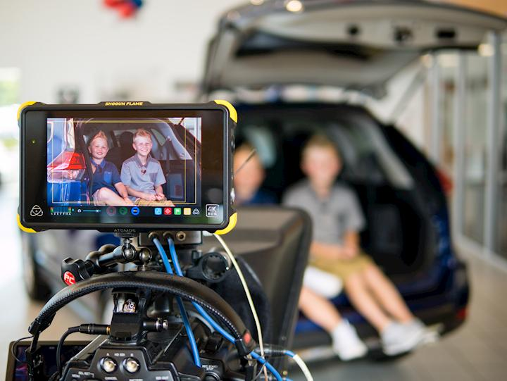 Got the kids ready for a spot for Younker Nissan with teh Canon C100.