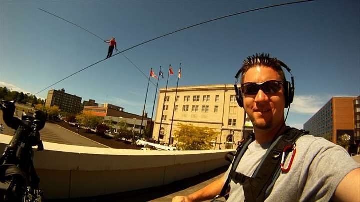 Matt Langley @ Niagara Falls with Nik Wallenda
