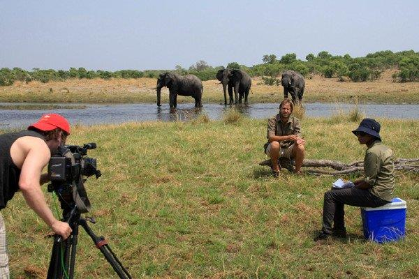 On location with BBC in Botswana