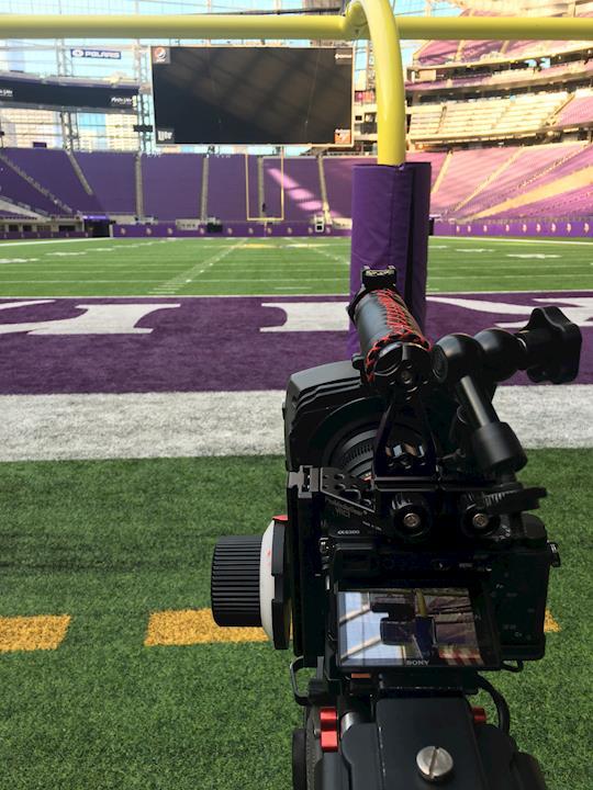 Capturing B-roll at US Bank Stadium