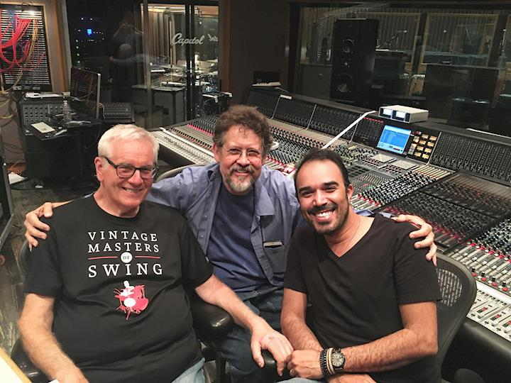 With Tim Simonec and Mike Aarvold during a recording session at Capitol Studios - Los Angeles