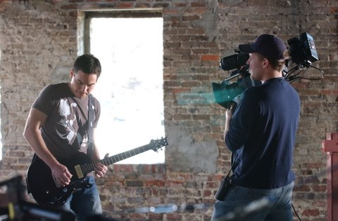 The Camera Operator/Director Gets a Shot of the Casting Crowns Guitarist