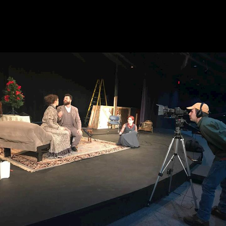 Shooting Local TV Spot for Wisc Rapids Community Theatre