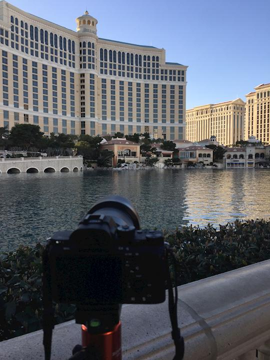 Shooting time lapse for a highlight reel for an incentive event in Las Vegas.