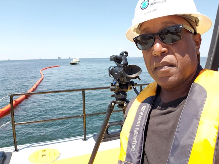 My Sony PXW-x70 4K XDCAM on assignment offshore