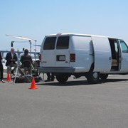 Stealthy van package is efficient, parks in a single space for quick set ups on location