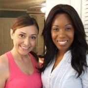 Ready to shoot b-roll scenes with fellow Canadian actress Melia Morgan