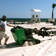Ditching 7000' of fiber in the sand - Hangout Festival
