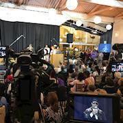 Filmed Stevie Wonder at Ron Dellums Memorial Event at Scotts in Oaklan