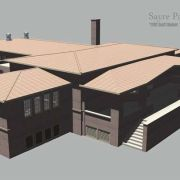 An archetectural model of a local park district community center created in Autodesk Maya and textured via Photoshop.