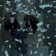 Exploding prop money scene from Gotham