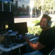 Angel J. Ortiz web streaming live from the field for The Festival of Lights