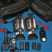 TWO Canon GL1 3ccd MiniDV Video Cameras +extras $300 shipped