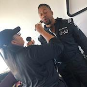 Key Makeup Artist. Male Grooming On Jaleel White for Lexus 0 To 60 Celebrity Racing Competition