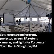 Setting up to Stream Corporate Town Meeting