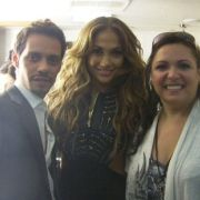 MTA client Liz Imperio with Jennifer Lopez and Marc Anthony