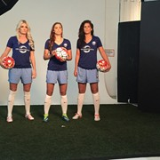 BTS with the stars of the new Orlando Pride Soccer Team