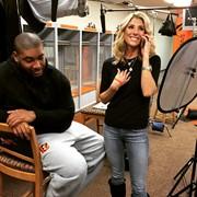 Shooting a feature on Devon Still with Michelle Beisner for ESPN