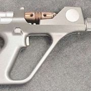 """""""Harper's Pistol"""" from the TV series ANDROMEDA. Featured a sequenced squib firing circuit. (Electronics provided by Bill Merry of Williams Electronics)"""