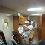 In the Caddyshack at the Masters with Bubba Watson