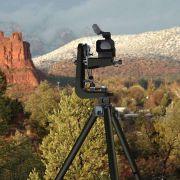 Remote camera control hot head on tripod
