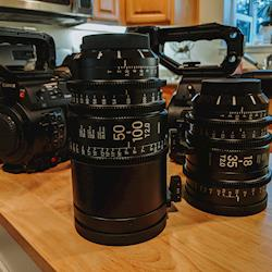 We love rolling two cameras with these two Sigma Cine Zooms.