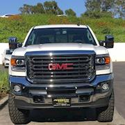 Picture car White GMC truck ( pick up )