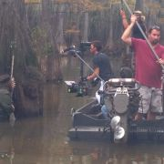 Willie Robertson (CEO of Duck Commander) is hunting in the swamp for a national Under Armour spot