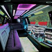 Picture car SUV exotic interior LED lights.