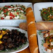 Mediterranean style production lunch