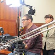Daniel and Angela Gamburg on a judicial shoot.