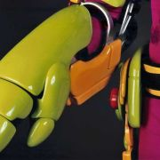 """""""Power Glove"""" detail. All components were finished with a highly durable guitar lacquer."""