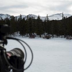 Colorado snow. Filming for WestFax Brewery.