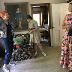BTS w/ author Lizzie Post, photographer Steph Larsen &  stylist Chloe Barcelou / for Yankee Magazine special edition