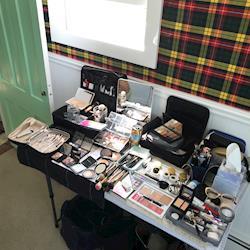 makeup setup for Tata Harper / clean beauty / HOLA magazine