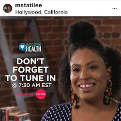 Tati Lee guest star on Access Health Lifetime tv