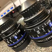 A couple of our Zeiss Compact Prime lens.