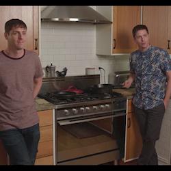 """Still from short film, """"Dinner in Hyde Park."""""""