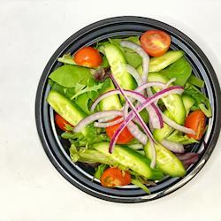 Spring Salad with a raspberry balsamic vinaigrette